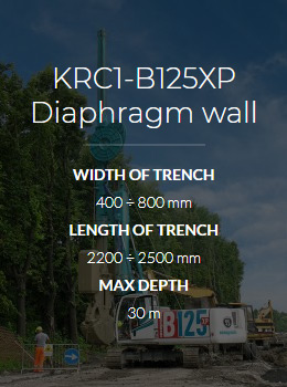 Ковшебур KRC1-B125XP Diaphragm wall