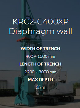 Ковшебур KRC2-C400XP Diaphragm wall